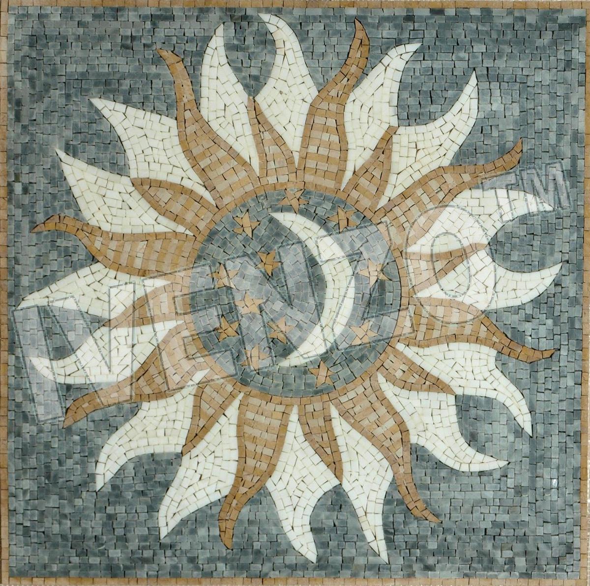 Mosaik Sonne Mond Sterne GK001